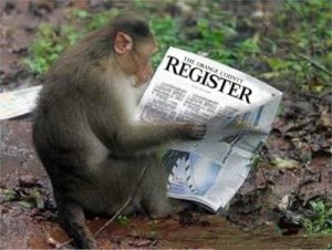 monkey reading register